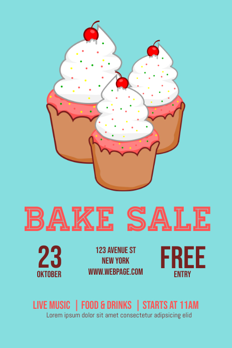 Bake Sale flyer Template PosterMyWall