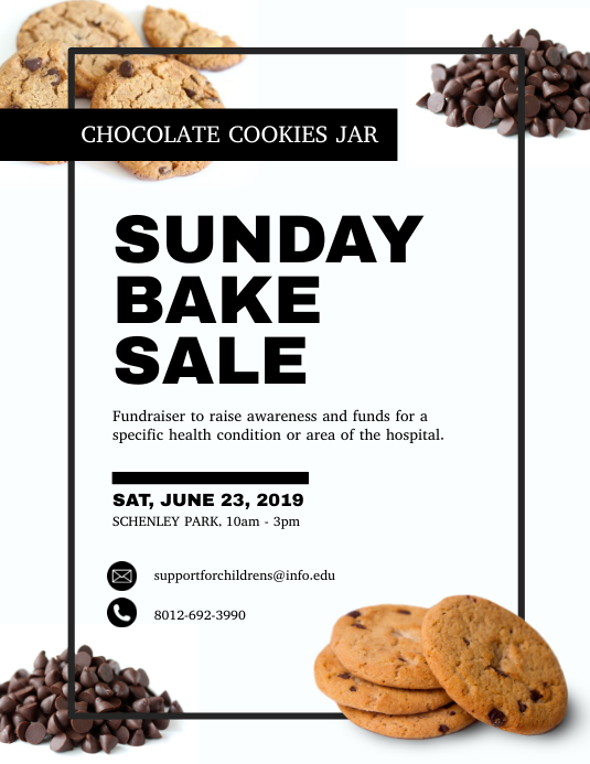 Bake Sale Fundraising Flyer Template PosterMyWall