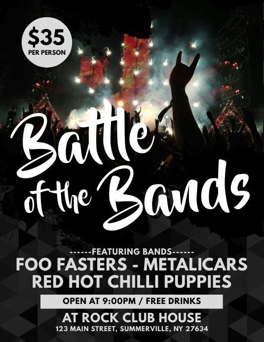 Band/Concert Flyer Template PosterMyWall