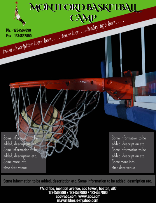 Basketball Template PosterMyWall