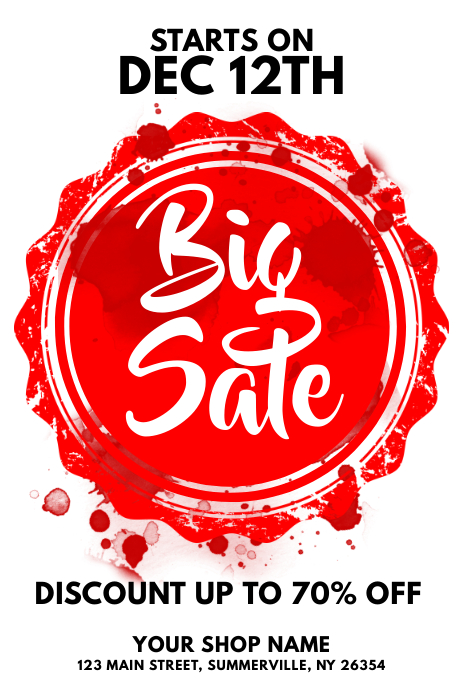 Big Sale Flyer Template PosterMyWall