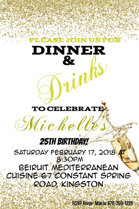 birthday dinner Template PosterMyWall