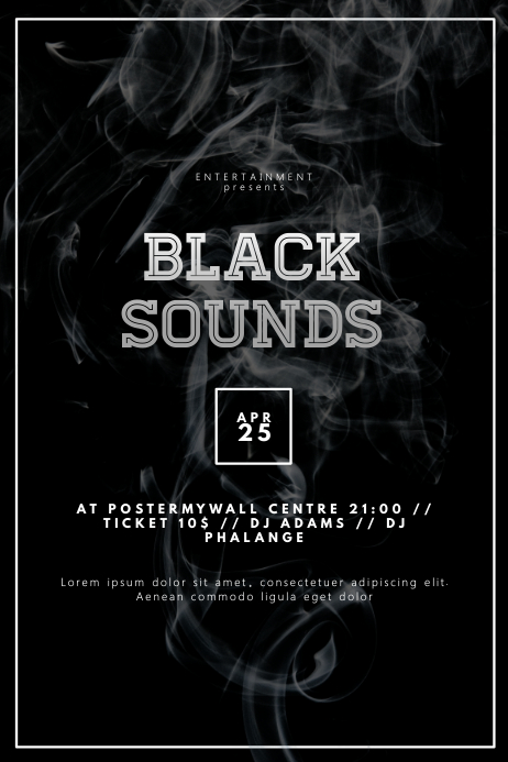 Black Event Party Flyer Template PosterMyWall