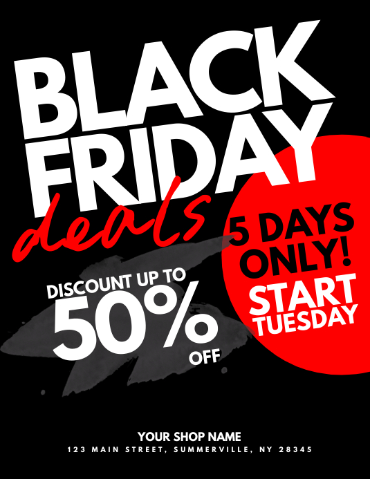 Black Friday Deals Flyer Template PosterMyWall