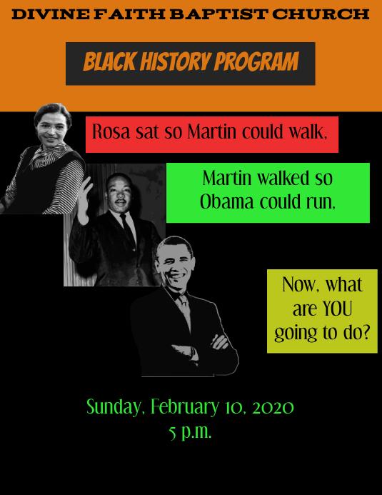 black history program template