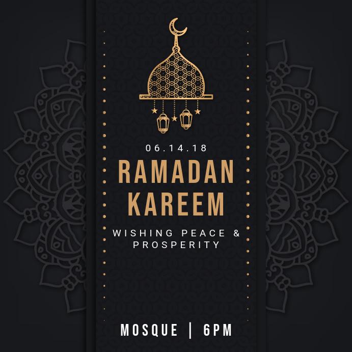 Black Regal Ramadan Iftar Instagram Invitation Template PosterMyWall