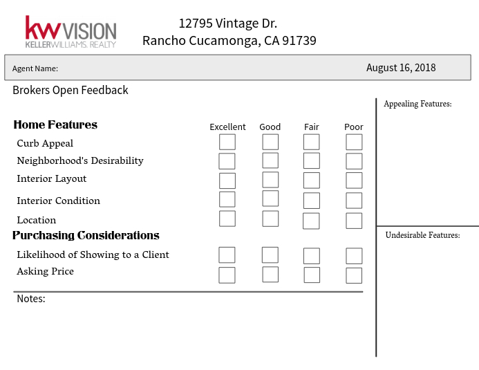 Brokers Open Feedback Form Template PosterMyWall