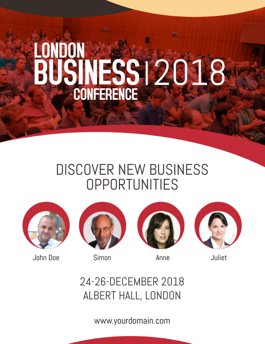 Business Conference Poster Flyer Template PosterMyWall