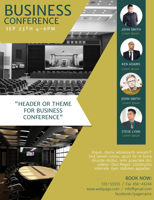 conference flyer template - Apmayssconstruction