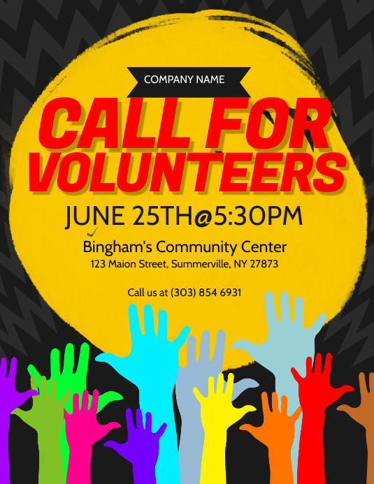 Call For Volunteers Flyer Template PosterMyWall