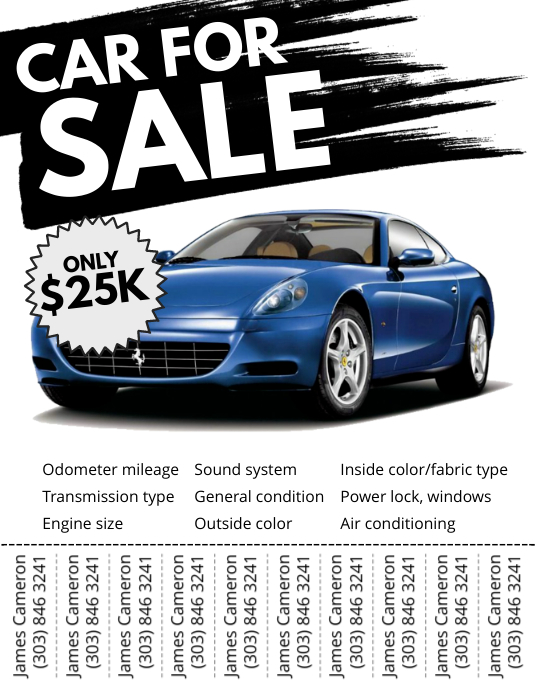 Car For Sale Flyer Template PosterMyWall