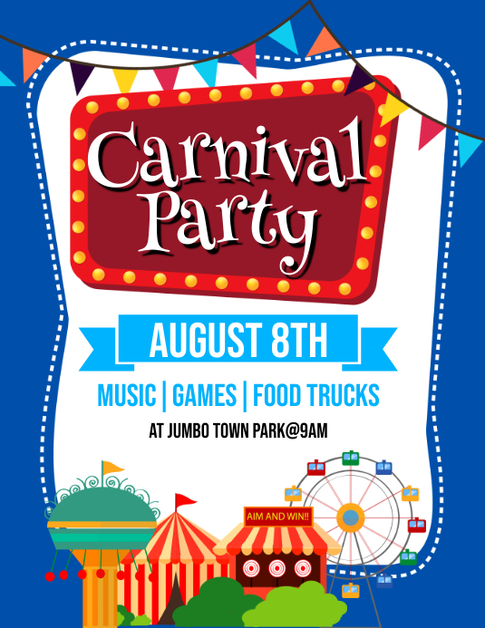 Carnival Party Flyer Template PosterMyWall