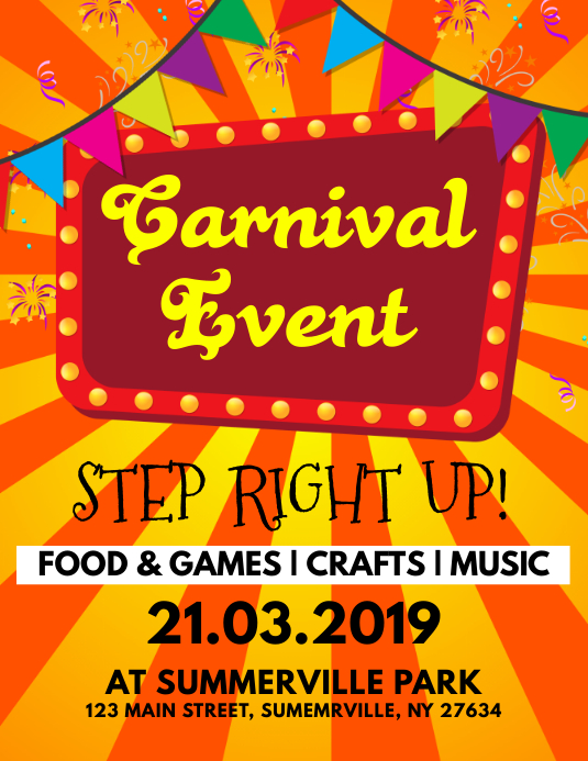 Carnival Event Flyer Template PosterMyWall