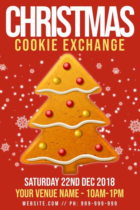 Christmas Cookie Exchange Poster Template PosterMyWall