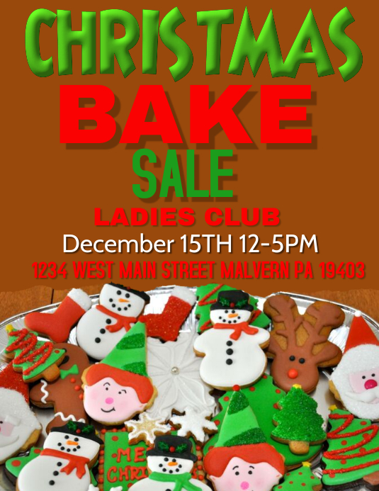 christmas cookie sale Template PosterMyWall