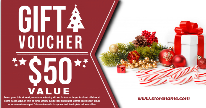 Christmas Gift Voucher Template PosterMyWall