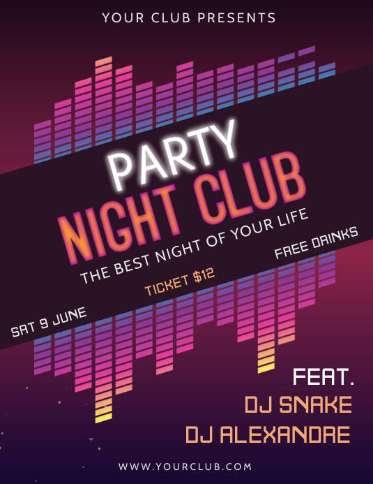 Club party flyer Template PosterMyWall