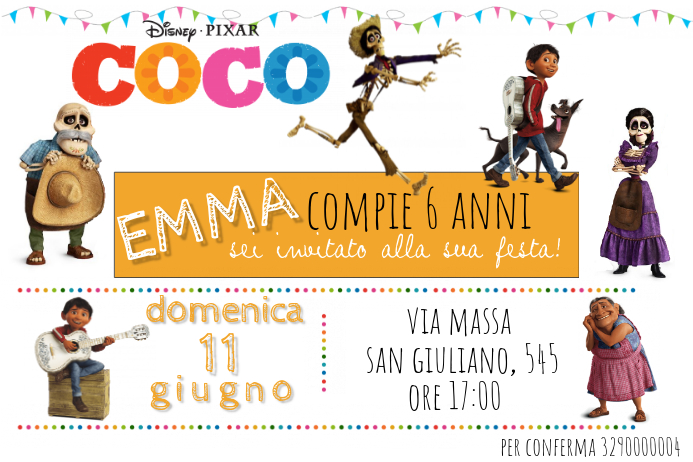 Coco Birthday Invitation Template PosterMyWall