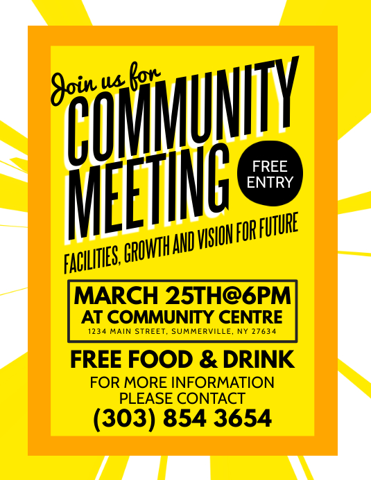 Community Meeting Flyer Template PosterMyWall