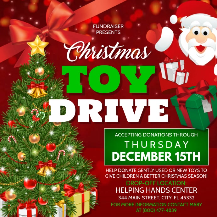 Christmas Toy Drive Template Postermywall
