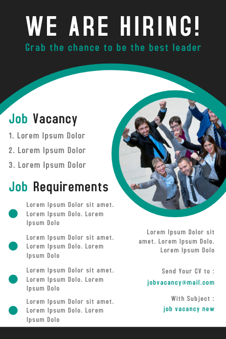 Corporate business job vacancy poster design template PosterMyWall