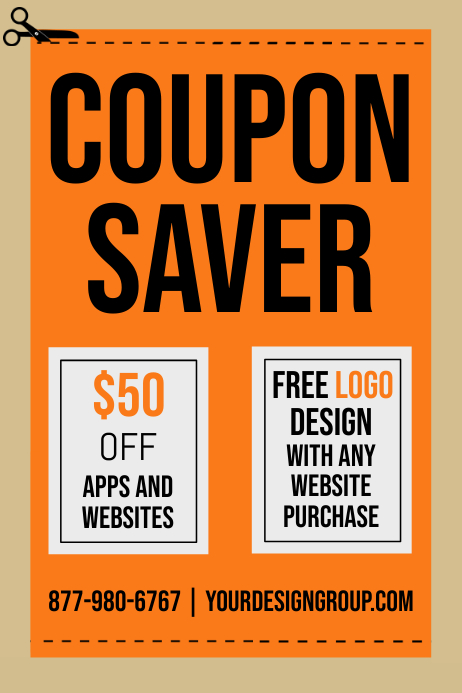 COUPON FLYER Template PosterMyWall