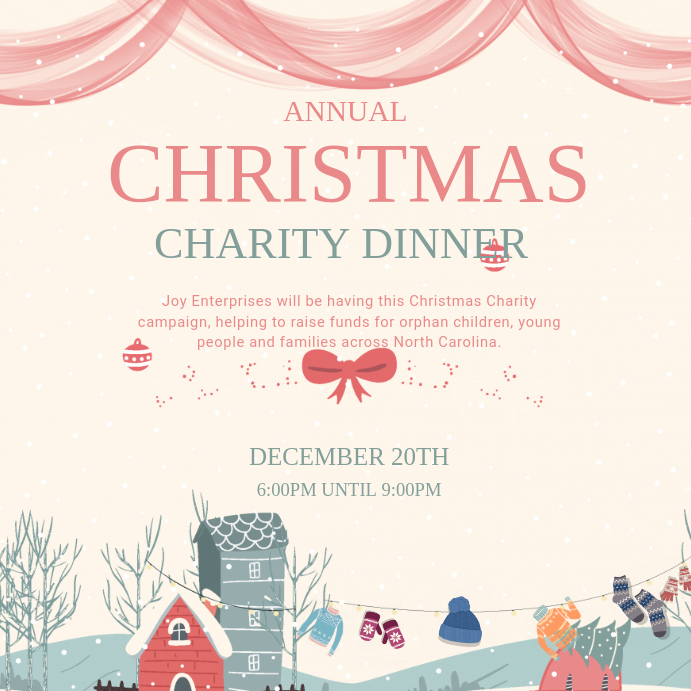 Creative Charity Dinner Invitation Card Template PosterMyWall