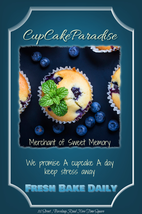 Cup Cake Flyers Template PosterMyWall