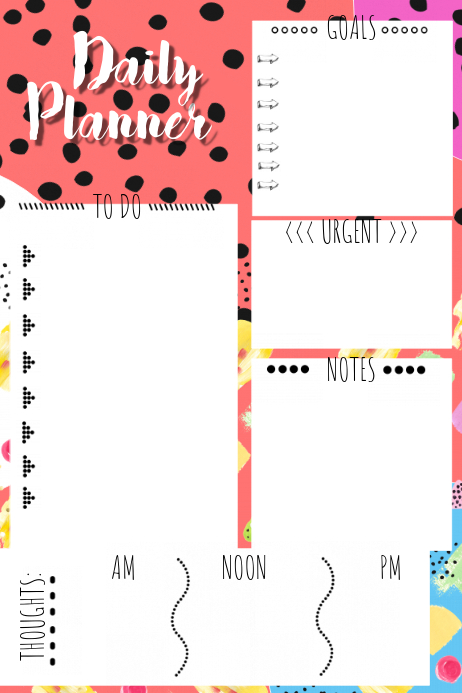 Daily Planner Template PosterMyWall
