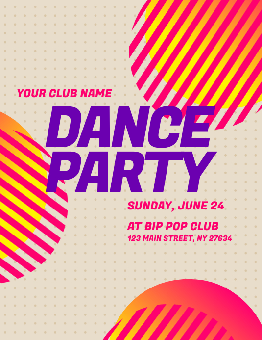 Dance Party Flyer Template PosterMyWall
