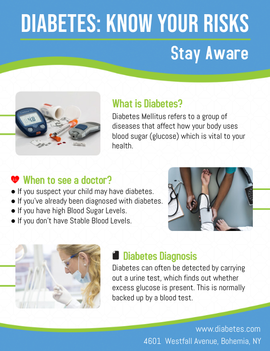 Diabetes Risk Leaflet Template PosterMyWall