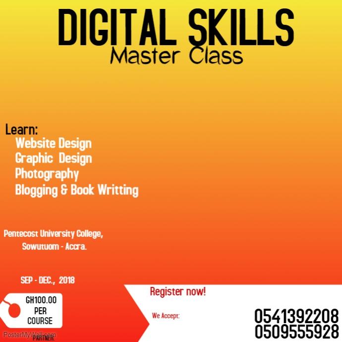Digital Skills Training Flyer Template PosterMyWall