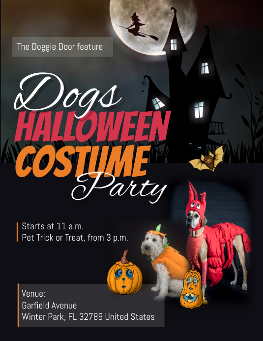 Dogs Halloween Costume Party Flyer Template PosterMyWall