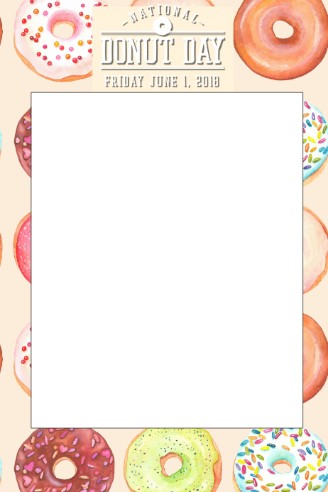 Donut Party Prop Frame Template PosterMyWall