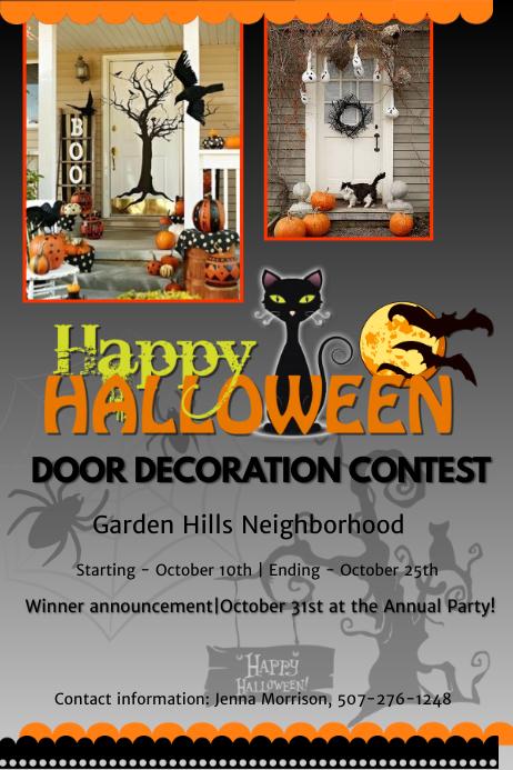 Halloween door decoration contest Template