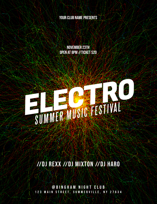 Electro Flyer Template PosterMyWall
