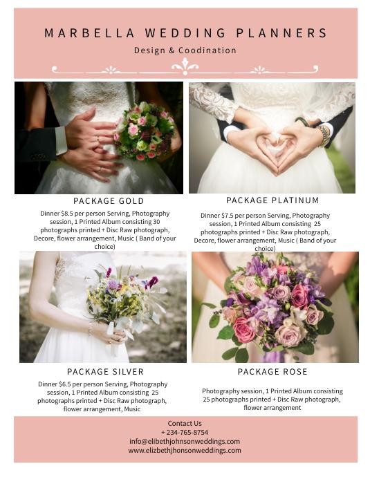 Elegant Wedding Planners Flyer Template PosterMyWall