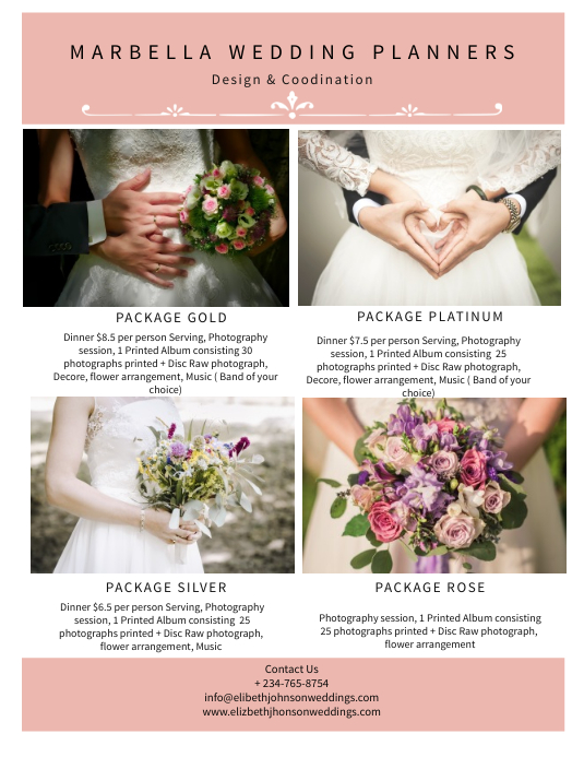 wedding table planners template