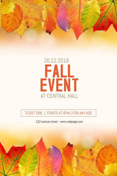 fall flyer background - Josemulinohouse