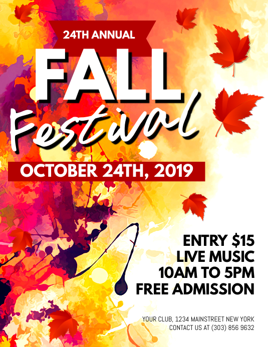 fall festival flyer templates - Onwebioinnovate - fall festival flyer ideas