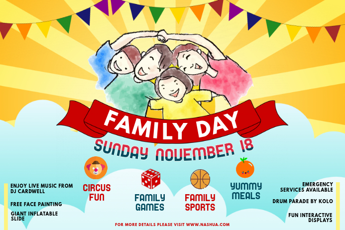 Family Community Day Event and Fair Poster Template PosterMyWall