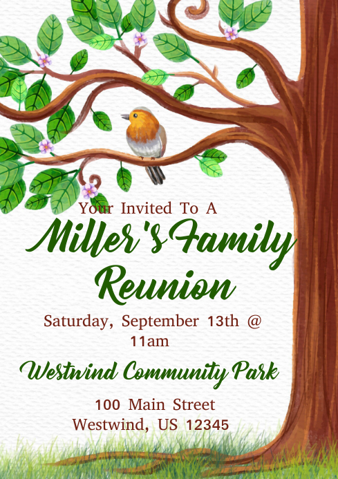 family reunion flyers templates