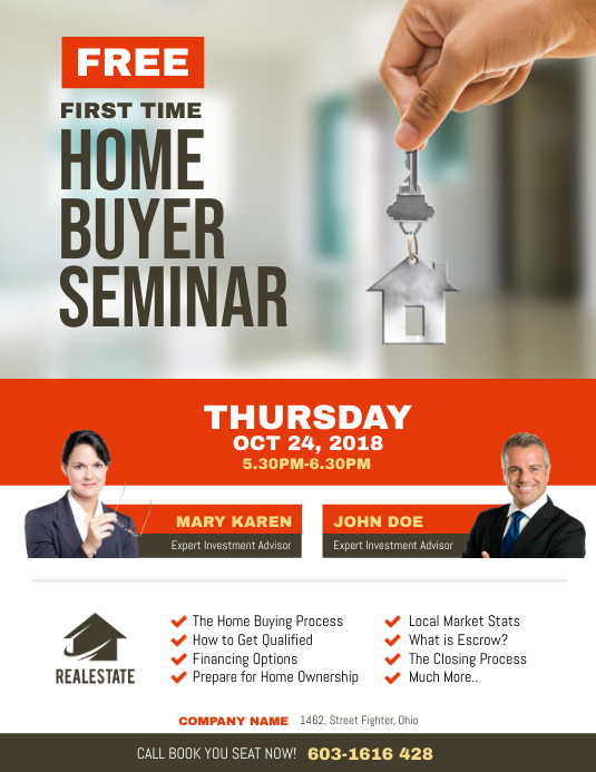 First Time Home Buyer Seminar Flyer Template PosterMyWall