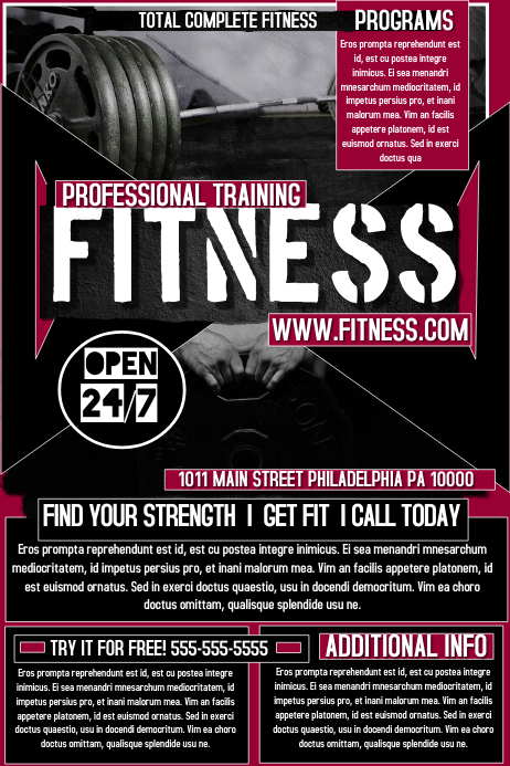 personal training flyer templates - Goalgoodwinmetals - Fitness Brochure Template