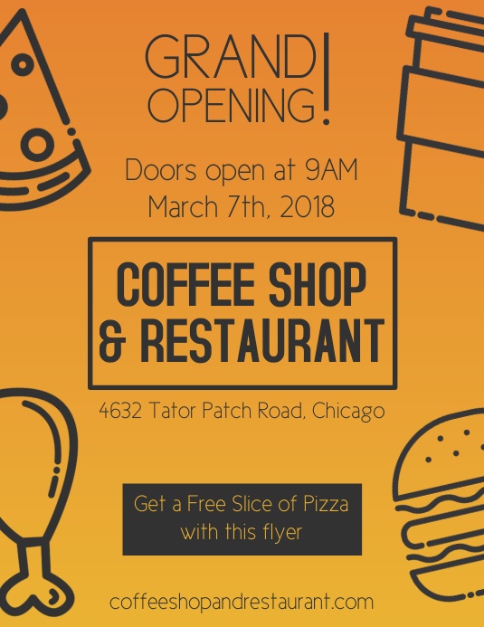 Food Grand Opening Flyer Templates PosterMyWall