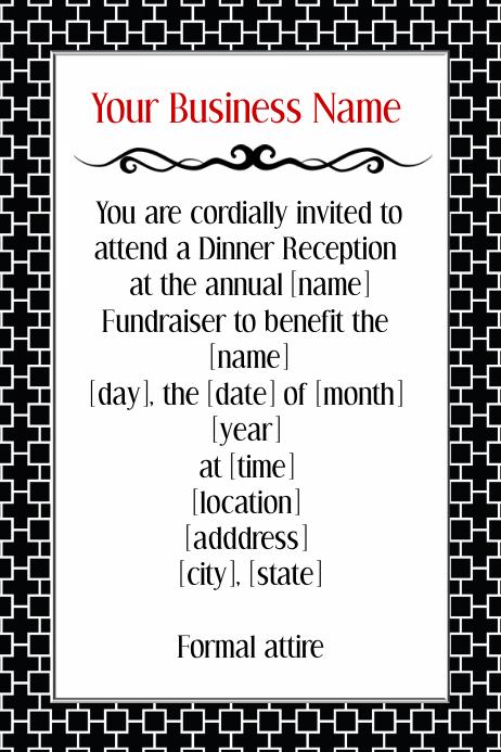 fundraiser invitation template