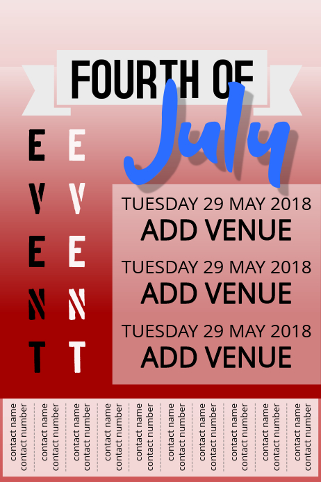 Fourth of july Simple event poster Template PosterMyWall