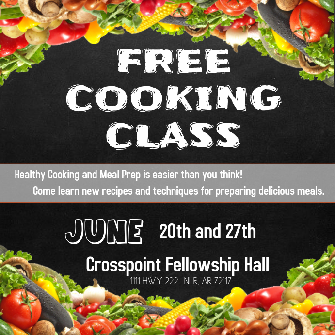 FREE COOKING CLASS Template PosterMyWall