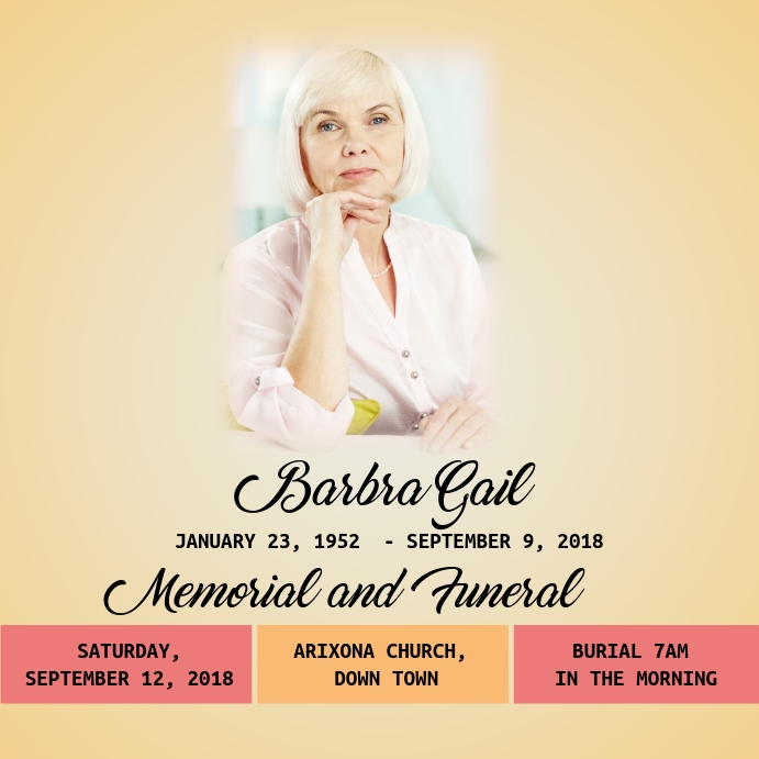 Funeral Flyer Template PosterMyWall