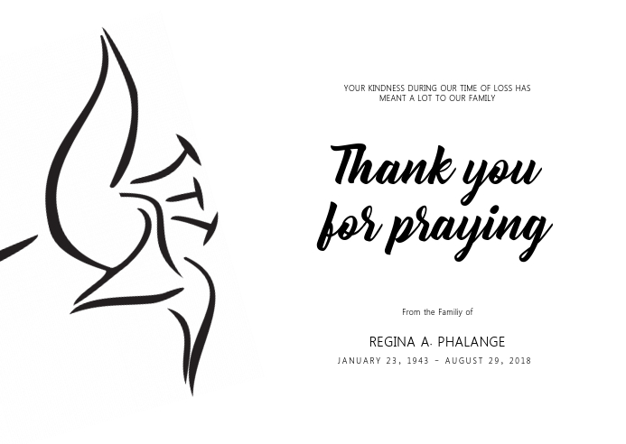 Funeral Thank You Card Note Template PosterMyWall